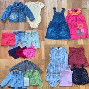 Lot Bundle of Baby Gap 24 Month Girls Clothes